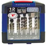 Faithfull Masonry Drillbit Set 12 Piece Set 3mm - 10mm